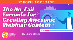 creating awesome webinar content