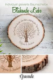 Baumscheibe Mit Gravur Zur Hochzeit Baum Der Ehe Personalisiert