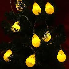 Warm White LED String Lights Battery Cute Yellow Chicks Novelty Fairy Lamp  Luminaria Festival Christmas Wedding