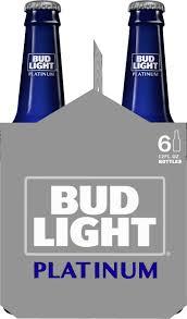 Bud Light Platinum 24 Pack Walmart Bud Light Platinum Beer 6 Pack Beer 12 Fl Oz Bottles