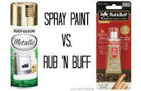 spray paint vs rub n buff