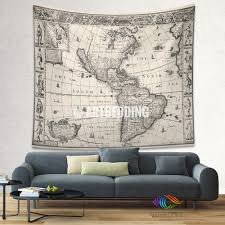 World Map Home Decor Ancient World Map Wall Tapestry Vintage World Map Wall Hanging