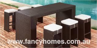 outdoor furniture australia melbourne. borneo - wicker outdoor furniture bar table + 6 stools australia melbourne