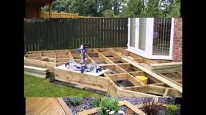Small Picture Small garden decking ideas YouTube