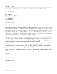 Cover Letter To Hr Department Cover Letter For A Human Resources Position Human Resources 19
