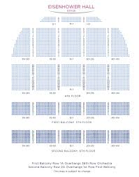 Kennedy Center Eisenhower Theater Detailed Seating Chart Kennedy Center Eisenhower Theater Seating Chart Kennedy