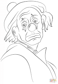 Small Picture Sad Clown coloring page Free Printable Coloring Pages