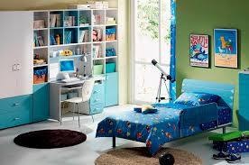 kids room kids bedroom neat long desk. Star Doll On Blue Bedding With Rockets And Ufo Printed Near Telescope Computer Desk At Toddler Boy Room. Home»Kids Bedroom»Adorable Kids Room Bedroom Neat Long