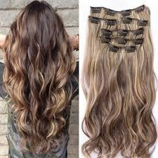 Natuurlijke Lang Krullend Golvend Clip In Haarstukken Hair