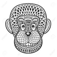 Coloring Pages With Head Of Monkey