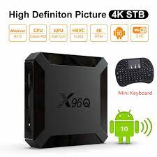 Android 10.0 X96Q WIFI Set Top Box Truyền Thông Người Chơi Game 2 + Tặng  Kèm HDMI Tương Thích/USB/TF/AV TV 4K Quad Core Android Smart TV Box Set-top  Boxes