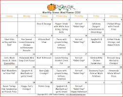 Monthly Dinner Planner 11 Best Photos Of Monthly Menu Planner Free Printable