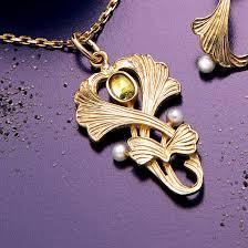 Anhänger Juliet, 925er Silber, vergoldet, mit Peridot und ...