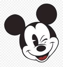 Mickey Mouse Face Vector - Mickey Mouse Face Wink Png,Mickey Mouse Logo Png  - free transparent png images - pngaaa.com