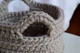 Free Crochet Basket Patterns Beauteous Crochet In Color Chunky Crocheted Basket Pattern