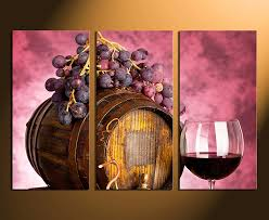 3 piece wall art home decor wine multi panel art kitchen canvas print on large wine bottle wall art with 3 piece large pictures wine artwork grapes wall decor barrel