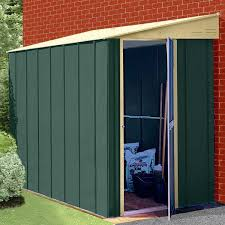 canberra lean to metal garden shed 4 sizes