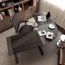 tempered glass office desk. Tempered Glass L Shape Executive Office Desk For Furniture