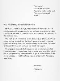 Writing Good Letters Sample Letter
