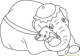 Small Picture Mom and Baby Dumbo Coloring Page Free Dumbo Coloring Pages