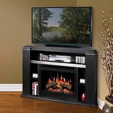image of black electric fireplace mantel