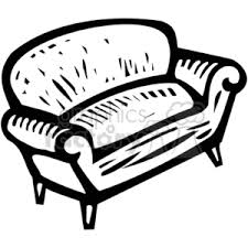 couch clipart black and white. royalty-free black white couch 382934 vector clip art image - eps, svg, pdf illustration | graphicsfactory.com clipart and a