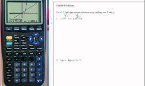 using calculator to help solve exponential and logarithmic equations
