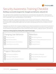 Security Awareness Training Program Checklist