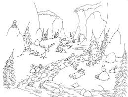 Small Picture Printable Animal In Forest With Rivers Coloring Book Pages Also