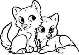 Cute Animals Coloring Pages Hurry For Girls Com Easy Animal Pictures