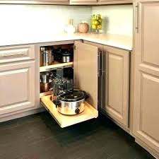 cabinet pullout shelf blind corner pull out shelves expandable wood