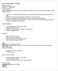 Marketing Resume Enchanting 60 Sample MBA Marketing Resumes Sample Templates