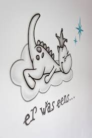 Er Was Eens Draakje Dirk Babykamer Muurschildering Sprookje