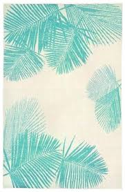 tree area rug palm leaf rugs casual and simple pattern in light dark turquoise shades tree area rug
