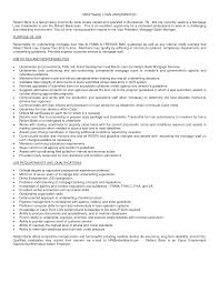 Underwriter Resume Sample Cover Letter Mortgage Underwriter Resume