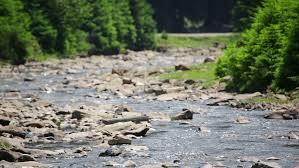 Mountain river landscape. Car travel concept - HD stock footage clip