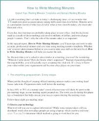 Meeting Minutes Format Template Write Email Sample Writing Excel