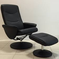 massage chair and footstool. fairmont furniture lyon black recliner massage chair with footstool and c
