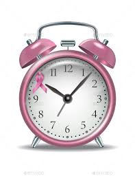 pink alarm clock with pink ribbon miscellaneous conceptual