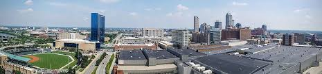 panorama of the downtown indianapolis skyline in 2016