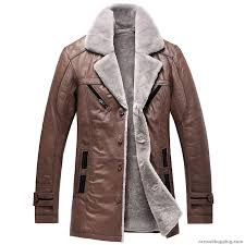 mens leather fur lined shearling coat dw zoom helmet