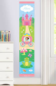 Personalized Princess Growth Chart Princess Personalized Decal Growth Chart Dark Complexion