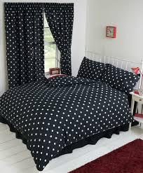 betty boop bedroom reversible bedding duvet quilt cover set polka black white