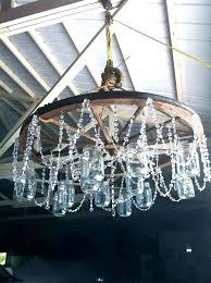 wheel chandelier