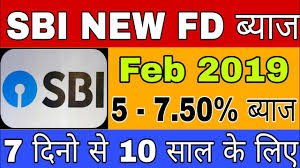 Sbi Fd Plan Chart Sbi Latest Fixed Deposit Fd Interest Rate 2019 Sbi Term Deposit Interest Rate Revision 2019