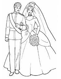 Stampa Disegno Di Barbie E Ken Sposi Da Colorare