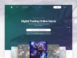 Trading Card Design Digital Trading Card Game Landing Page Design By Sasha Turischev