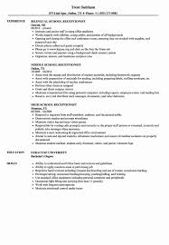 The Receptionist Resume Online Editor   Resume Template