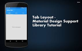 Import Android Support Design Widget Tablayout Error Tab Layout Material Design Support Library Tutorial