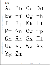 Abcs Print Manuscript Alphabet For Kids To Learn Writing Student